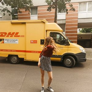 DHL Truck in the streets