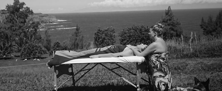Anja massaging in Hawai'i