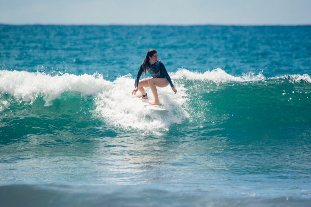 Kalina Surfing in Jaco